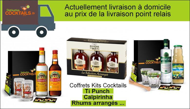 Découvrez notre sélection de kits cocktail TiPunch, Rhum arrangé, Caïpirinha ...