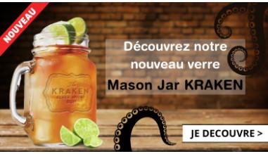 Découvrez notre nouveau verre Mason Jar KRAKEN